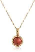 Tagliamonte Mia & Beverly Garnet and Diamond 18K Rose Gold Charm Necklace