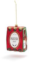 Sur La Table Six Pack Beer Glass Ornament