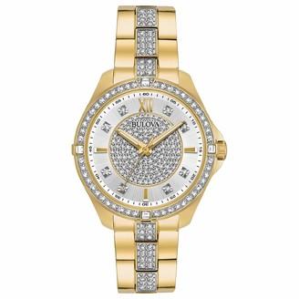 Bulova Women's 98L228 Swarovski Crystal Gold Tone Bracelet Watch