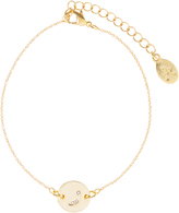 Accessorize Gold Plated Arabic R Coin Bracelet
