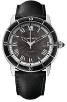Cartier Ronde Croisière de Automatic Stainless Steel & Leather Strap Watch