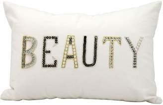 Kathy Ireland ''Beauty'' Beaded Throw Pillow