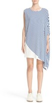 MM6 MAISON MARGIELA Women's Circle Stripe Asymmetrical Dress