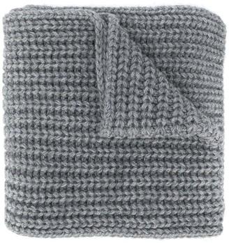 DSQUARED2 Logo-Applique Purl Knit Scarf