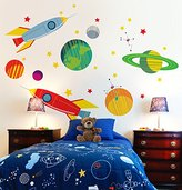"""Oopsy Daisy Fine Art For Kids Galactic Travels Peel and Place, Green/Orange, 54"""" x 45"""""""