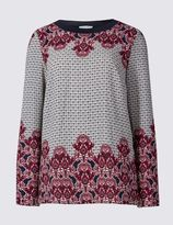 Marks and Spencer Long Sleeve Floral Print Jersey Top
