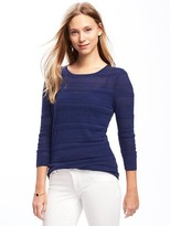 Old Navy Lightweight Pointelle Sweater for Women