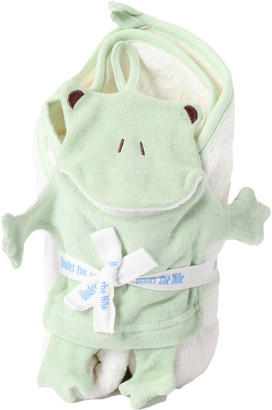 Under the Nile 2-Piece Frog Towel & Wash Mitt Organic Egyptian Cotton Gift Set