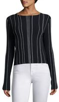 Theory Hankson Prosecco Striped Blouse