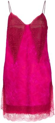 Philosophy di Lorenzo Serafini lace trim camisole dress