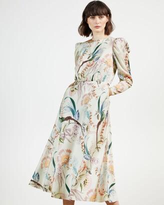 Ted Baker Decadence Puff Sleeve Midi Dress