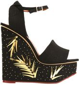 Charlotte Olympia 'Mischievous' sandals - women - Leather/Linen/Flax - 36