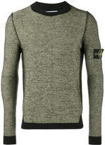 Stone Island Green Wool Blend Crew Neck Jumper
