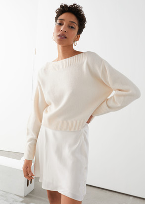 And other stories Boatneck Knit Sweater