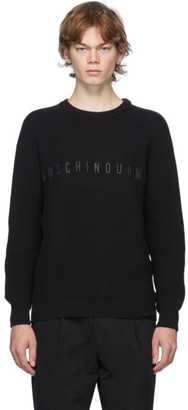 Moschino Black Crewneck Sweater