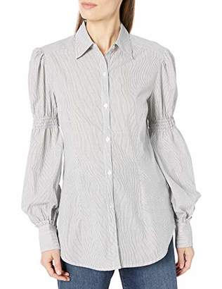 Lark & Ro Women's Stripe Woven Top