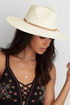American Eagle Outfitters AE White Wide Brim Panama Hat