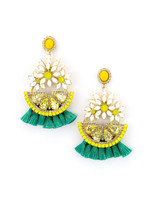 Elizabeth Cole Lemondrops Earrings