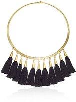 Vince Camuto Tassel Gold/Black Collar Necklace