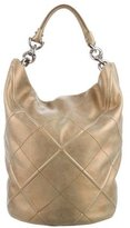 Salvatore Ferragamo Metallic Leather Hobo