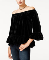Sanctuary Julia Velvet Off-The-Shoulder Top