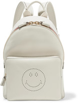 Anya Hindmarch Smiley mini striped perforated leather backpack