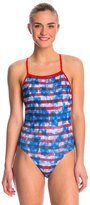 Speedo Champs & Stripes Printed One Back One Piece Swimsuit 8136804