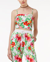 The Edit By Seventeen Juniors' Tropical-Print Crop Top, Only at Macy's