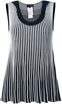Emporio Armani striped sleeveless blouse - women - Polyester/Viscose - 40