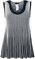 Emporio Armani striped sleeveless blouse - women - Polyester/Viscose - 40