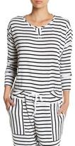 Kensie Long Sleeve Striped Shirt