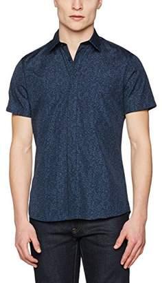J. Lindeberg Men's Daniel Cl Ss Soft Print Regular Fit Classic Short Sleeve Casual Shirt,Small