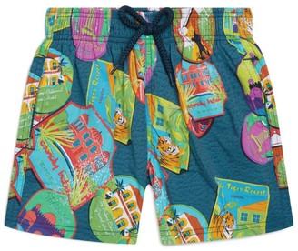Vilebrequin Kids Indian Resort Print Swim Shorts (2-14 Years)