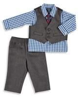 Izod 4-Piece Herringbone Vest Set in Blue