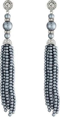 Kenneth Jay Lane 3479ESCGPP Earring Grey Pearl One Size