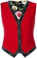 Dolce & Gabbana logo print waistcoat