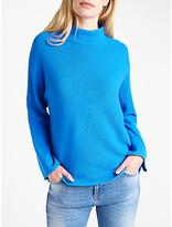 Marella Gene Knitted Rib Jumper, Cornflower Blue