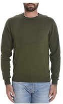 Sun 68 Men's Green Cotton Sweater.