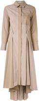 Brunello Cucinelli Striped Patchwork Dress