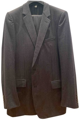 Christian Dior Anthracite Wool Suits