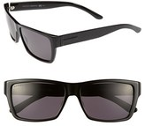 Gucci Men's 57Mm Polarized Sunglasses - Black Polarized