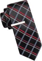 Jf J.Ferrar JF Atlantic Avenue Grid Tie and Tie Bar Set