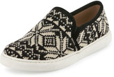 Splendid Seaside Fair Isle Slip-On Sneaker, Black