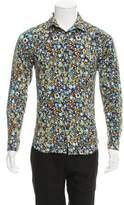 Versus Printed Button-Up Shirt