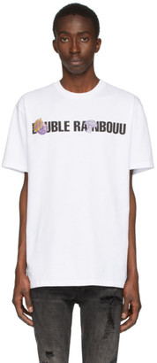Double Rainbouu White Logo Patch Ice T-Shirt