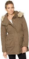 A Pea in the Pod Faux Fur Hood Anorak Maternity Coat