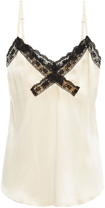 Reformation Lace-trimmed Silk-satin Camisole