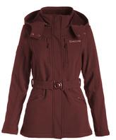 Bebe Merlot Funnel Collar Coat