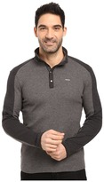 Calvin Klein Long Sleeve Quarter Button Color Blocked Knit Shirt
