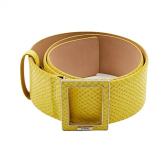 Chanel Yellow Leather Belts